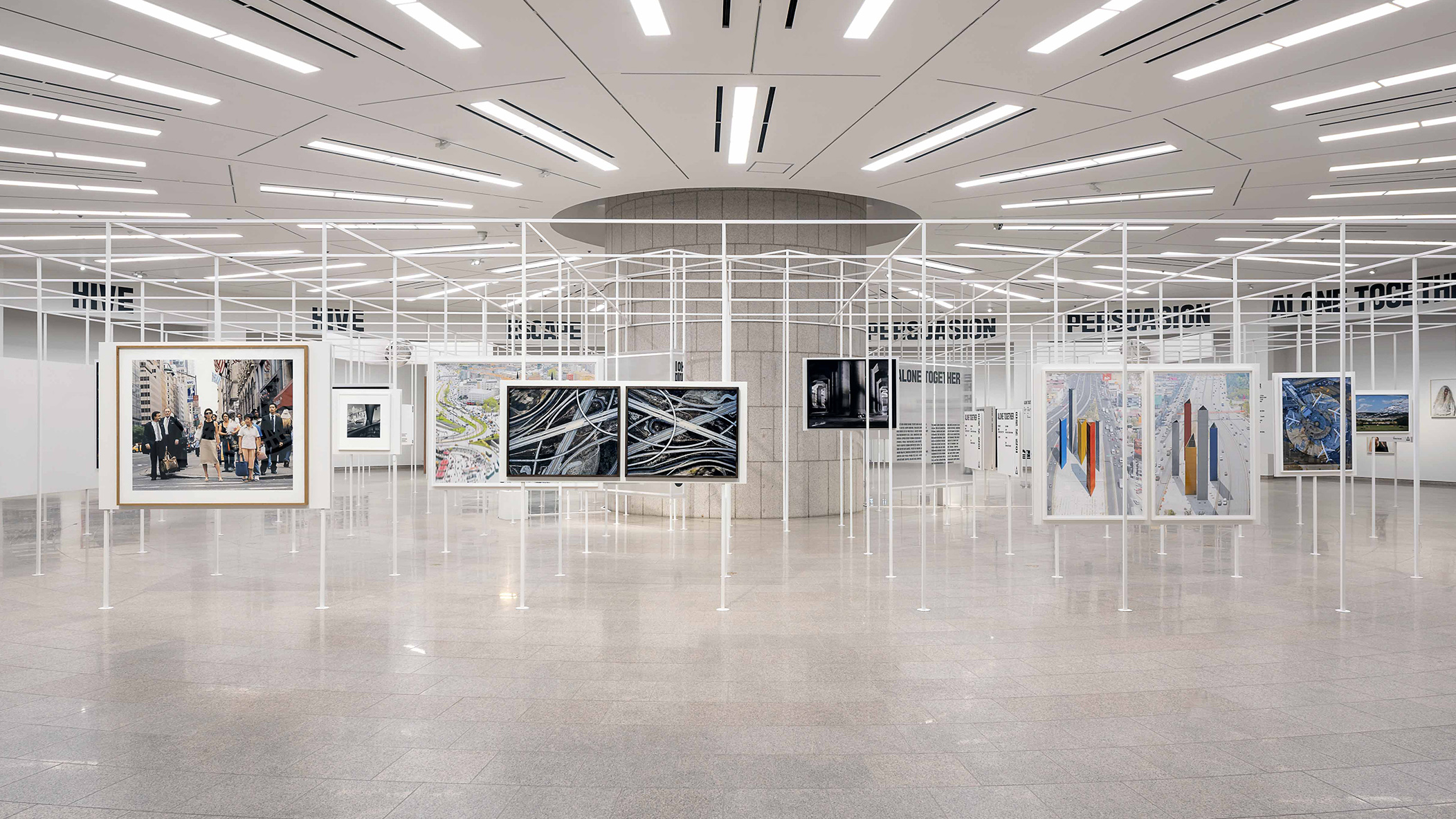 Installation of 'Civilization: The Way We Live Now' an exhibition by The Foundation for the Exhibition of Photography at The National Museum of Modern and Contemporary Art, Seoul, Korea